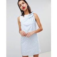 Sportmax Code Zig Stripe Shift Dress - Blue