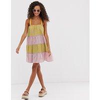 ASOS DESIGN trapeze mini sundress in mixed stripe - Stripe
