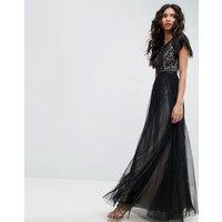 Needle & ThreadNeedle & Thread Primrose Lace Bodice Gown - Black