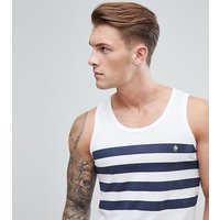 French Connection Tall Four Stripe Vest - White/marine