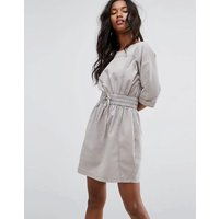 ASOSASOS Casual Dress With Elasticated Waist and Open Back - Grey