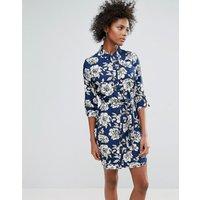 Urban BlissUrban Bliss Yvonne Printed Shirt Dress - Navy