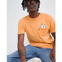 RIPNDIP Lord Nermal over dyed t-shirt in orange - Orange