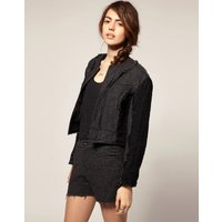 Blaak For ASOS Patch Wool Cop jacket - Grey