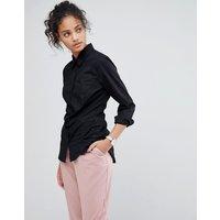 Camisa de manga larga de algodón elástico de ASOS DESIGN