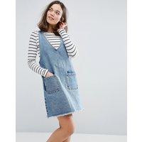 MonkiMonki V Neck Denim Dress - Blue