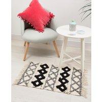 Sass & Belle diamond print rug with tassels - Multi