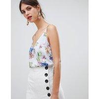 Oasis Cami Top In Floral Print - Multi