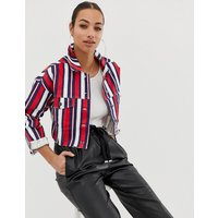 In The Style stripe denim jacket - Stripe