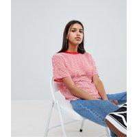 Noisy May Stripe T-Shirt - Red/pink stripe