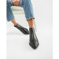 Accessorize Flat Leather Studded Trim Boot