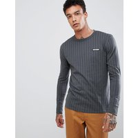 Dickies Doswell stripe long sleeve t-shirt in grey - Grey