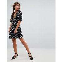 ASOSASOS Casual Mini Tea Dress in Washed Spot - Multi