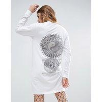 ASOSASOS Yin Yang Print T-Shirt Dress - White