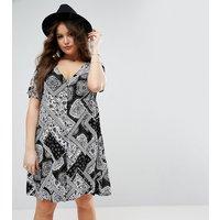 Alice & YouAlice & You Paisley Patchwork Tea Dress - Black