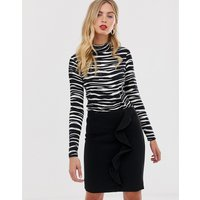French Connection Sundae Suiting frill pencil skirt