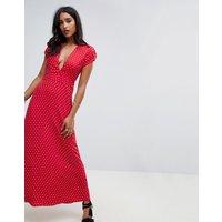 Flynn Skye valentina plunge spotty dress - Cherry dots