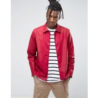 Rains Waterproof Coach Jacket in Scarlet - Scarlet