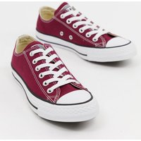 Converse Chuck Taylor All Star ox burgundy trainers - Maroon