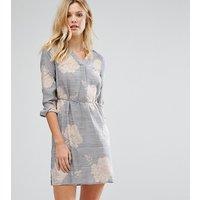 Vero Moda TallVero Moda Tall Floral Shirt Dress - Ombre blue