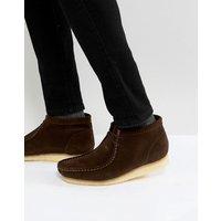 Clarks Originals Wallabee Suede Boots In Brown - Brown
