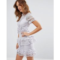 Y.A.SY.A.S Bertha Frill and Lace Dress - Evening haze