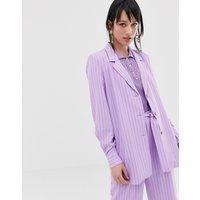Gestuz Tara pinstripe blazer - Sheer lilac