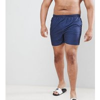 French Connection Plus Dot Swim Shorts - Navy