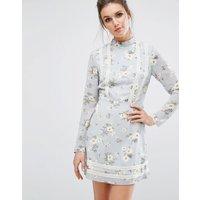 MissguidedMissguided Floral Tea Dress - Blue