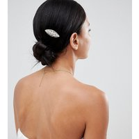 Accessorize Diamante 2 Pack Hair Clips - Silver