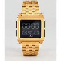 Adidas Z01 Archive Digital Bracelet Watch In Gold - Gold