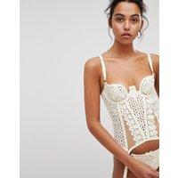 Elissa Poppy Pretty Latex Bridal Basque - Ivory