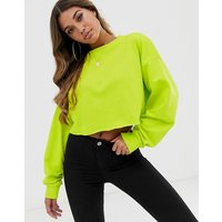 ASOS DESIGN oversized boxy crop sweatshirt in lime green - Lime