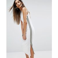 Juicy Couture Black Label Trk Microterry Tank Dress With Racer Stripe - White