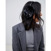 Ted Baker Ear Muffs With Bee Embellishment - Black