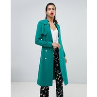 Morgan Belted Duster Coat - Green