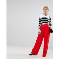 Miss Selfridge High Waisted Wide Leg Trouser - Red