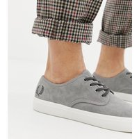 Fred Perry Merton suede trainers in grey - Grey
