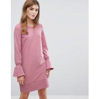 VilaVila Fluted Cuff Sweat Jumper Dress - Lilas