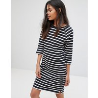 SelectedSelected Natali 3/4 Sleeve Striped Jersey Shift Dress - Dark sapphire