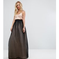 ASOS TALL Tulle Spot Maxi Skirt - Black