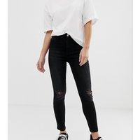 New Look Petite skinny jeans in black - Black