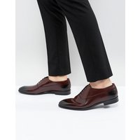 HUGO Appeal Lace Up Leather Oxford Shoes in Burgundy - 601