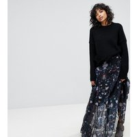 Lily and Lionel Exclusive Floral Maxi Skirt - Dark floral
