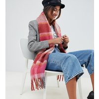 Accessorize Covent Garden Fluffy Check Scarf - 99 Brights Multi