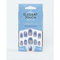 Elegant Touch Chrome Collection 2.0 Almond Midnight Minx False Nails - Midnight Minx