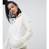 The North Face Womens Campshire Bomber Fleece in White - Vintage white