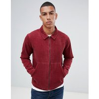 Another Influence Zip Through Cord Shacket - Red
