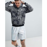 Roadies of 66 Bandana Print Hoodie - Black