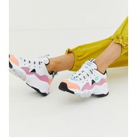 Skechers D'Lite chunky trainers 3.0 in pastel - Pastel multi